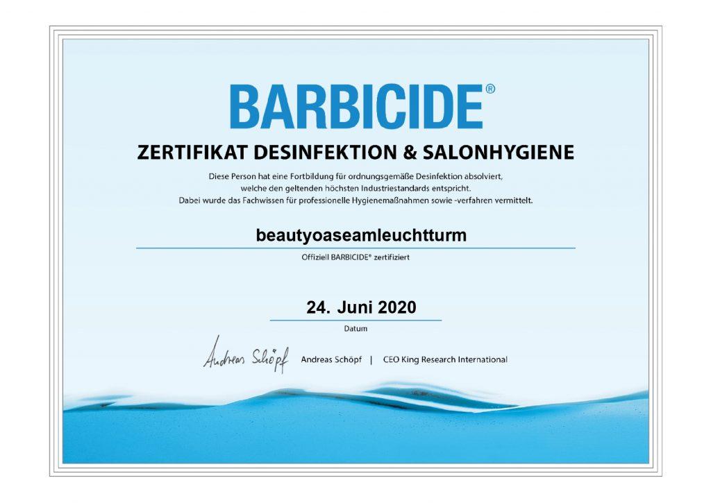 Certificate barbicide page 0001